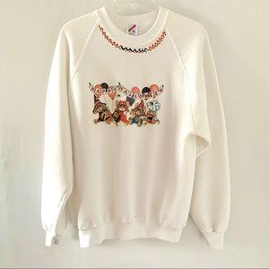Vintage Jerzees Happy Halloween Sweatshirt Size XL